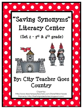 Synonyms Literacy Center - Set 2 (harder vocab)