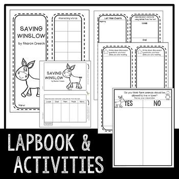 Saving Winslow by Sharon Creech STEM Challenge and Flip Book