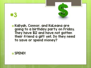Saving and Spending Money