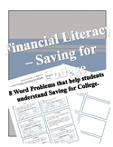 Saving for College - Personal Financial Literacy