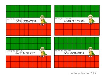 Saving the Day with Good Behavior! Punch Cards for Tough Behaviors