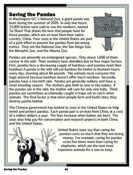 Saving the Pandas