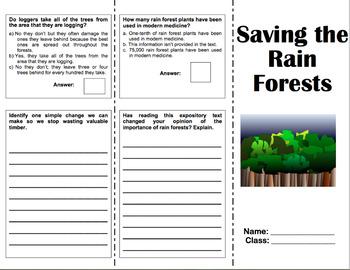 Saving the Rain Forests - 6th Grade Reading Street