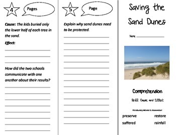 Saving the Sand Dunes Trifold - Treasures 3rd Grade Unit 3 Week 3 (2009)