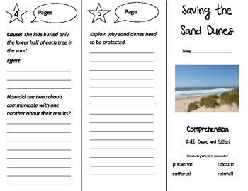 Saving the Sand Dunes Trifold - Treasures 3rd Grade Unit 3 Week 3 (2009)