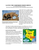 Saving the White Rhino Scholastic Article with FSA Question Set