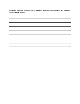 Savings Account Comparison Worksheet