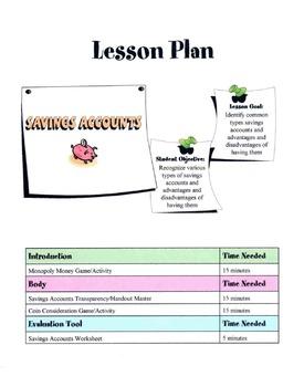 Savings Accounts Lesson