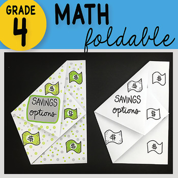 Math Doodle - Savings Options ~ INB Foldable Notes ~