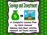 Savings and Investment - Lesson Plan and Activities