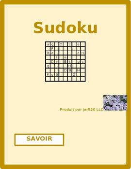Savoir French verb Present tense Sudoku