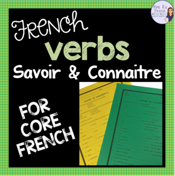 French verbs savoir and connaître worksheet