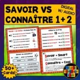 Savoir vs Connaître Boom Cards, French Digital Flashcards,