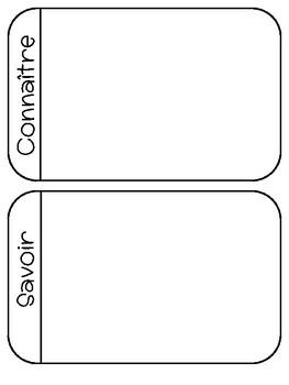 Savoir vs. Connaître   Notes & Activities
