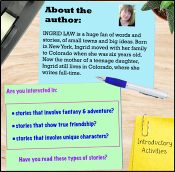 Savvy by Ingrid Law Book Study