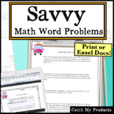 Savvy Novel Study Math Word Problems
