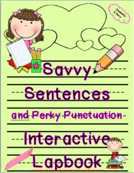 Savvy Sentences & Perky Punctuation Interactive Lapbook with Editable Templates
