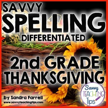 Savvy Spelling for Second Grade THANKSGIVING