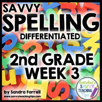 Savvy Spelling for Second Grade Week 3