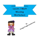 Saxon 2 Math Meeting