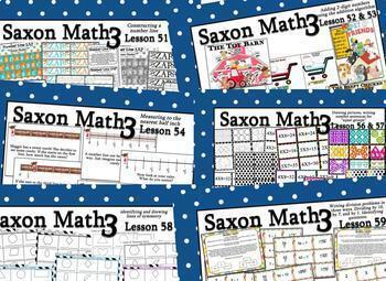 Saxon 3 (3rd Grade) Full Year Growing Bundle of Extension game, activities, more