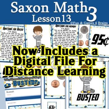 Saxon 3 (3rd Grade) Lesson 13 Extension game - coins, dime