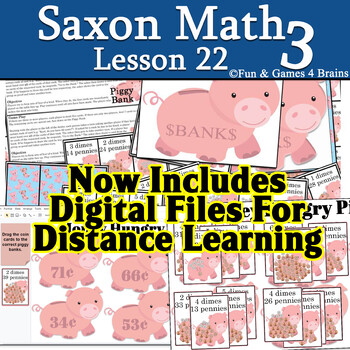 Saxon 3 (3rd Grade) Lesson 22 Extension game - trading dimes and nickels