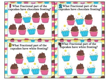 Saxon 3 (3rd Grade) Lesson 26 Extension task cards - fractional part of a set