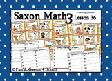 Saxon 3 (3rd Grade) Lesson 36 Extension Game - Counting quarters, coins
