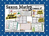 Saxon 3 (3rd Grade) Lesson 47 Extension Activities - Using comparison symbols
