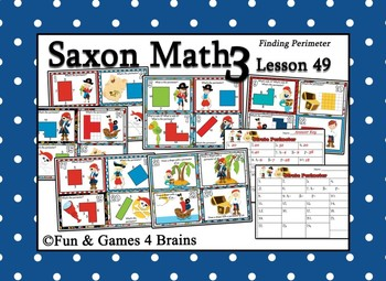 Saxon 3 (3rd Grade) Lesson 49 Extension Activities - Finding Perimeter
