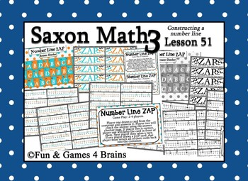 Saxon 3 (3rd Grade) Lesson 51 Extension Activities - Constructing a Number Line