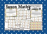 Saxon 3 (3rd Grade) Lesson 59 Extension Activity - Writing division facts