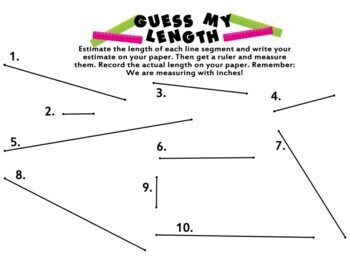 Saxon 3 (3rd Grade) Lesson 6 extension activity Measuring to the nearest inch