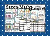 Saxon 3 (3rd Grade) Lesson 61 Extension Activity - fractional part of a set