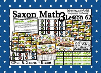 Saxon 3 (3rd Grade) Lesson 62 Extension Activity - Subtracting multiples of 10