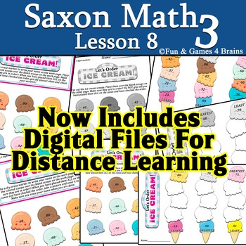 Saxon 3 (3rd Grade) Lesson 8 extension activity ordering 2-digit numbers