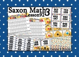 Saxon 3 (3rd Grade) Lesson 92 Extension Activity- 3 digit