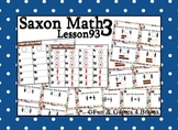 Saxon 3 (3rd Grade) Lesson 93 Extension Activity- Comparin