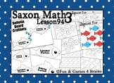 Saxon 3 (3rd Grade) Lesson 94 Extension Activity- Comparin