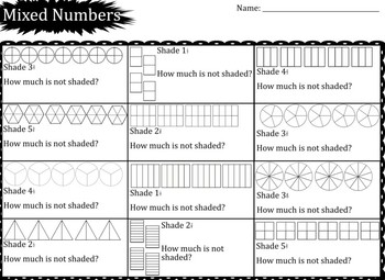 Saxon 3 (3rd Grade) Lesson 98 Extension Activity- Mixed number fractions
