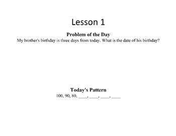 Saxon 3(3rd Grade)Lesson1-10 extension activities, morning papers,& exit tickets