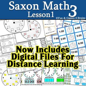 Saxon 3 (3rd grade) Lesson 1 Time to the Hour & Elapsed ti