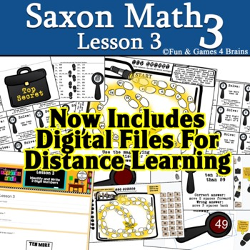 "Saxon 3 (3rd grade) Lesson 3 extension game ""Top Secret"" 2"