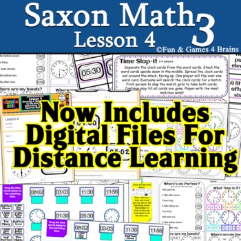 Saxon 3 (3rd grade) Lesson 4 extension pages and games