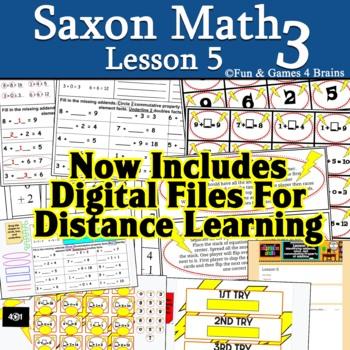 Saxon 3 (3rd grade) Lesson 5 extension pack