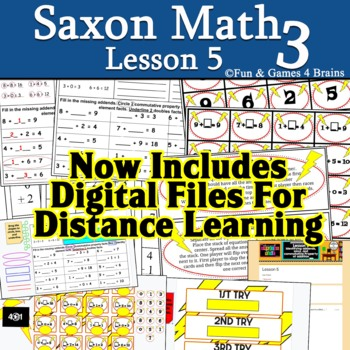 Saxon 3 (3rd grade) Lesson 5 extension pack
