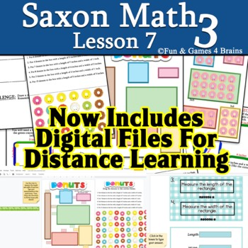 Saxon 3 (3rd grade) Lesson 7 Extension Measuring to the nearest inch
