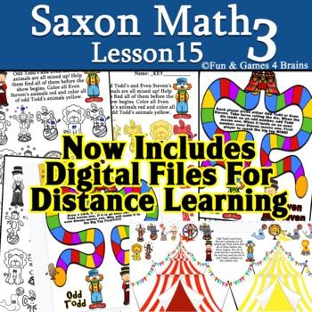 Saxon 3 (3rd grade) Lesson 9 Extension activity Even & Odd Circus game &activity