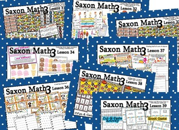 Saxon 3(3rdGrade)Lesson31-40 extension activities, morning papers& exit tickets